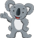 Funny koala cartoon Stock Photo