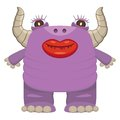 Funny laughing purple monster this is file of eps format Stock Photography