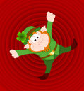 Funny Leprechaun Retro Background Royalty Free Stock Photo