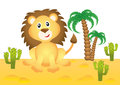 Funny lion in africa smiling Stock Image