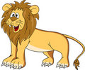 Funny lion cartoon Royalty Free Stock Photography