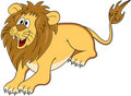 Funny lion cartoon Stock Photography