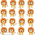 Funny lions (2) Royalty Free Stock Images