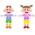 Funny little boy and girl Royalty Free Stock Photos