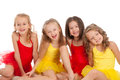 Funny little dancer group of ballet dancers Royalty Free Stock Image