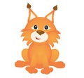 Funny lynx on white background Royalty Free Stock Image