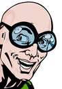 Funny man with glasses comic book style illustration of a smiling Royalty Free Stock Images