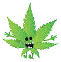 Funny marijuana leaf vector illustration background Royalty Free Stock Photos
