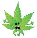 Funny marijuana leaf