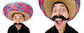 The funny mexican with sombrero hat