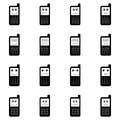 Funny mobile phones icon set Royalty Free Stock Photo