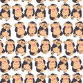 Funny monkey seamless pattern on white background Royalty Free Stock Photo