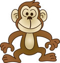 Funny monkey - vector illustration Stock Photo