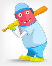 Funny Monster. Baseball. Stock Image