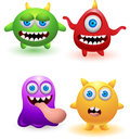Funny monster cartoon Royalty Free Stock Photography