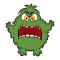 Funny monster cartoon cute Stock Photography
