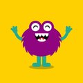 Funny monster character icon