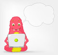 Funny Monster. Coder. Royalty Free Stock Photo