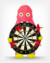 Funny Monster. Darts. Royalty Free Stock Image