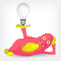 Funny Monster. Idea. Royalty Free Stock Images