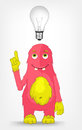 Funny Monster. Idea. Royalty Free Stock Photography