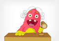 Funny Monster. Judge. Royalty Free Stock Image