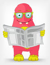 Funny Monster. News. Stock Photography