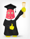 Funny Monster. Student. Royalty Free Stock Photo