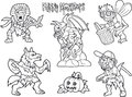 Funny monsters set of images Royalty Free Stock Photo