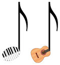 Funny music notes Royalty Free Stock Photo