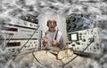 Funny nerd scientist Royalty Free Stock Photo