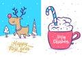 Funny New Year Set . Christmas...