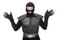 Funny ninja isolated on the white background Stock Photography
