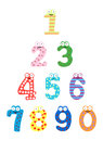Funny number-Vector Stock Images