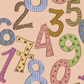 Funny numbers seamless pattern cute Stock Photo