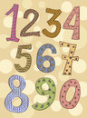 Funny numbers set childish Royalty Free Stock Photography