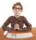 Funny office worker Stock Photography