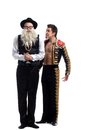 Funny old Jew and toreador Royalty Free Stock Photography