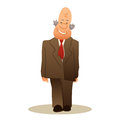Funny old man stands. Business elderly man smiling, wearing a su Royalty Free Stock Photo