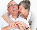 Funny older couple laughing together Royalty Free Stock Images