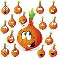 Funny onion cartoon