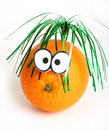 Funny orange  with eyes Stock Image