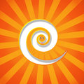 Funny orange snake Royalty Free Stock Image