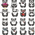 Funny pandas (1) Stock Photos