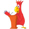 Funny Parrot. Presentation. Royalty Free Stock Photo