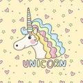 Funny pattern unicorn.