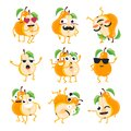 Funny pears - vector isolated cartoon emoticons Royalty Free Stock Photo