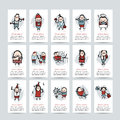Funny people collection, business cards for your Royalty Free Stock Photo