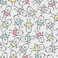 Funny people seamless pattern Stock Images