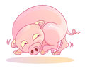 Funny pig running Stock Photography